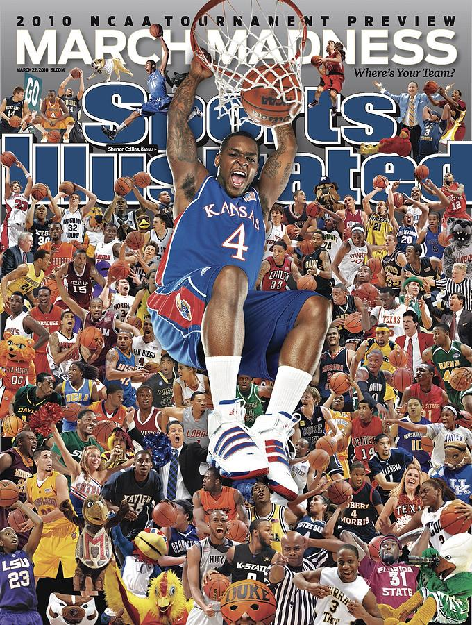University Of Kansas Sherron Collins, 2010 March Madness Sports Illustrated Cover Photograph by Sports Illustrated