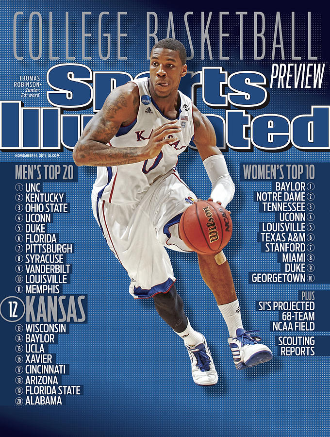 University Of Kansas Thomas Robinson, 2011-12 College Sports Illustrated Cover Photograph by Sports Illustrated