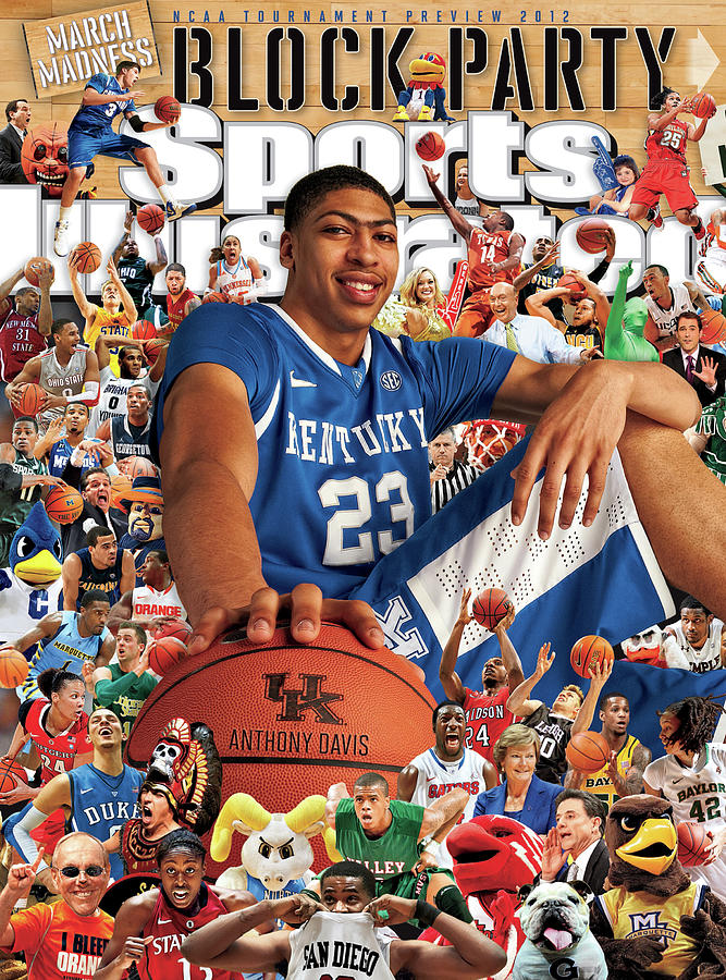 University Of Kentucky Anthony Davis, 2012 March Madness Sports Illustrated Cover Photograph by Sports Illustrated
