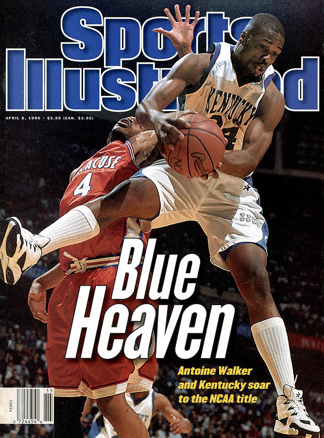 University Of Kentucky Antoine Walker, 1996 Ncaa National Sports Illustrated Cover Photograph by Sports Illustrated