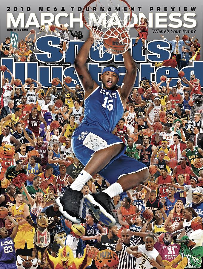 University Of Kentucky Demarcus Cousins, 2010 March Madness Sports Illustrated Cover Photograph by Sports Illustrated