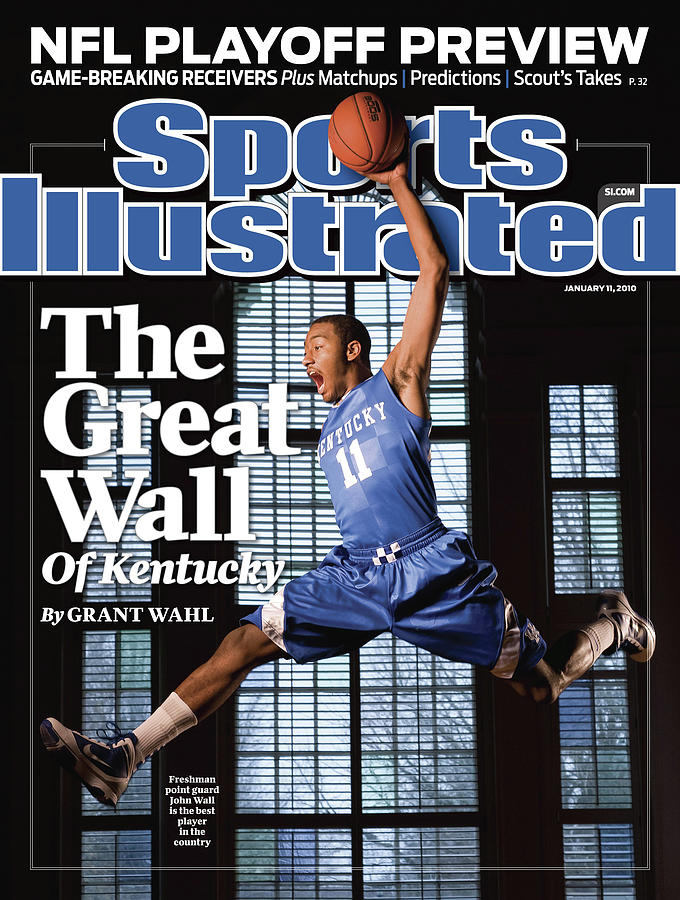 University Of Kentucky John Wall Sports Illustrated Cover Photograph by Sports Illustrated