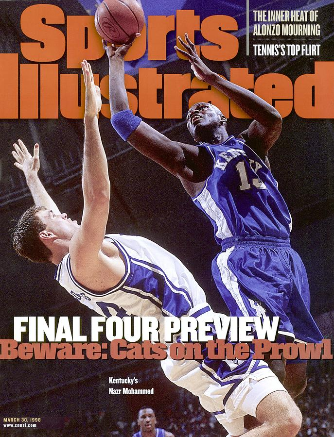 University Of Kentucky Nazr Mohammed, 1998 Ncaa South Sports Illustrated Cover Photograph by Sports Illustrated
