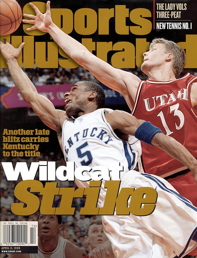 University Of Kentucky Wayne Turner, 1998 Ncaa National Sports Illustrated Cover Photograph by Sports Illustrated
