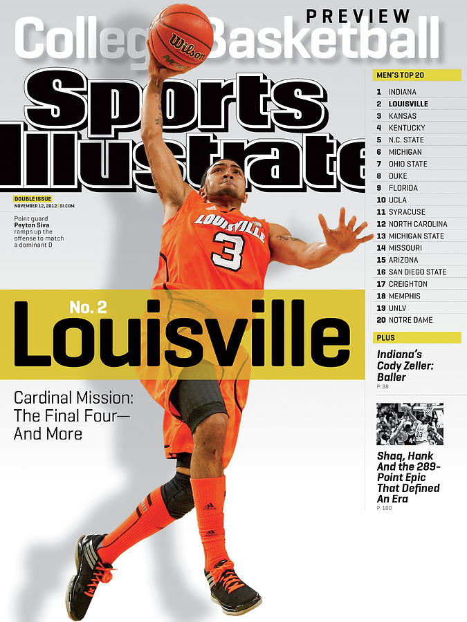 University Of Louisville Peyton Siva, 2012-13 College Sports Illustrated Cover Photograph by Sports Illustrated