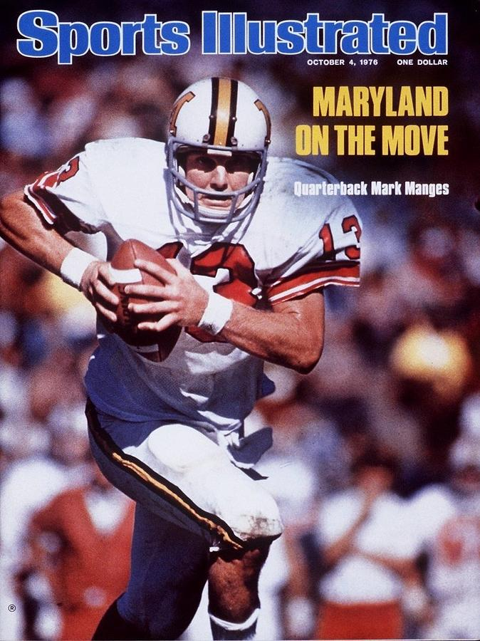 University Of Maryland Qb Mark Manges Sports Illustrated Cover Photograph by Sports Illustrated