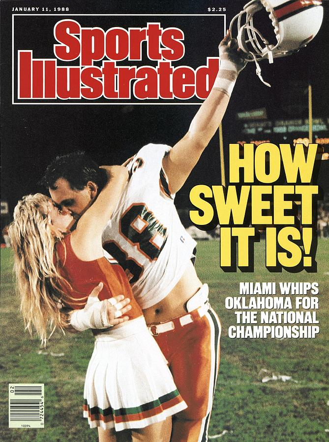 University Of Miami Dennis Keller, 1988 Orange Bowl Sports Illustrated Cover Photograph by Sports Illustrated