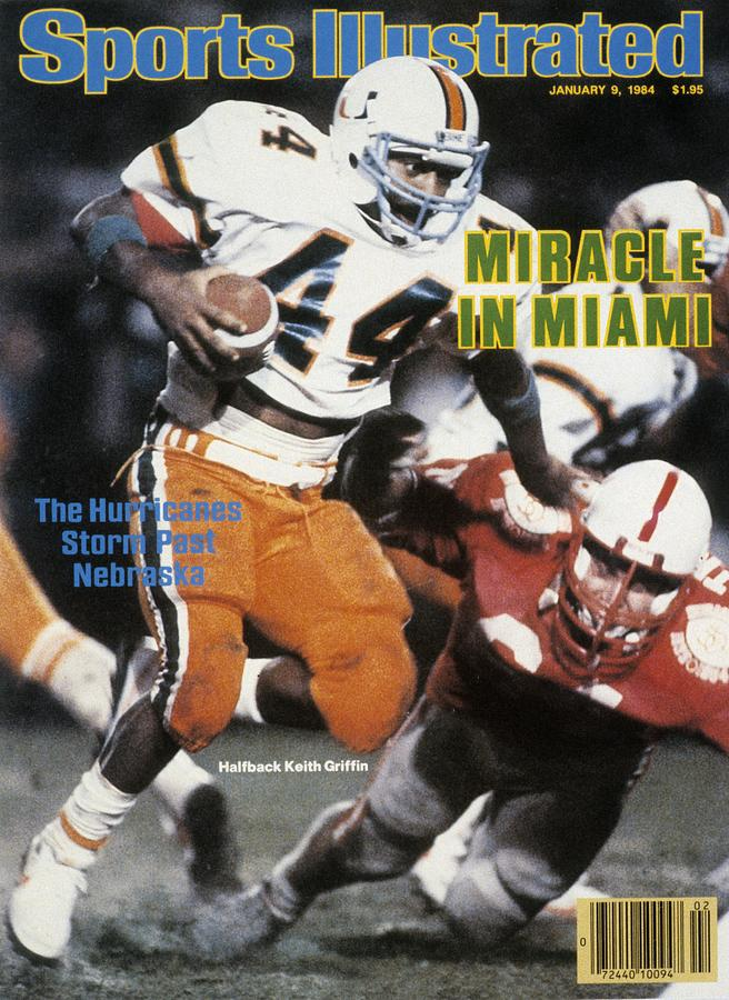 University Of Miami Keith Griffin, 1984 Orange Bowl Sports Illustrated Cover Photograph by Sports Illustrated