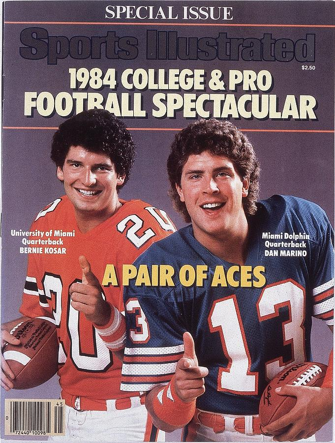 University Of Miami Qb Bernie Kosar And Miami Dolphins Qb Sports Illustrated Cover Photograph by Sports Illustrated