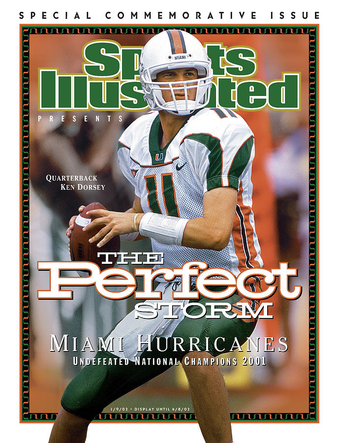 University Of Miami Qb Ken Dorsey, 2001 Ncaa National Sports Illustrated Cover Photograph by Sports Illustrated