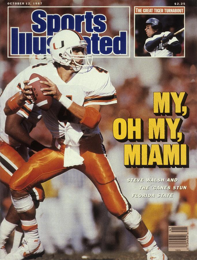 University Of Miami Qb Steve Walsh Sports Illustrated Cover Photograph by Sports Illustrated
