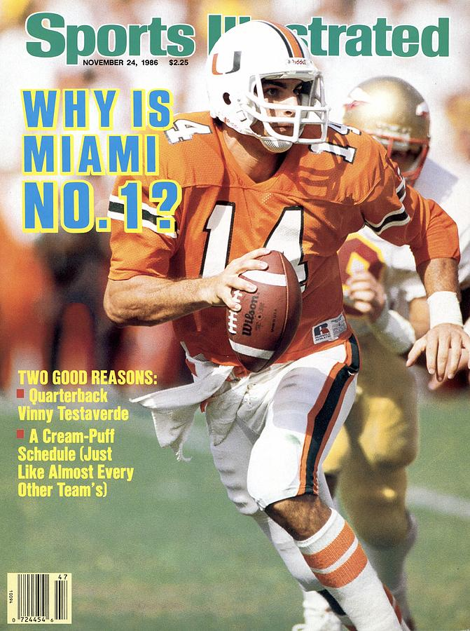 University Of Miami Qb Vinny Testaverde Sports Illustrated Cover Photograph by Sports Illustrated