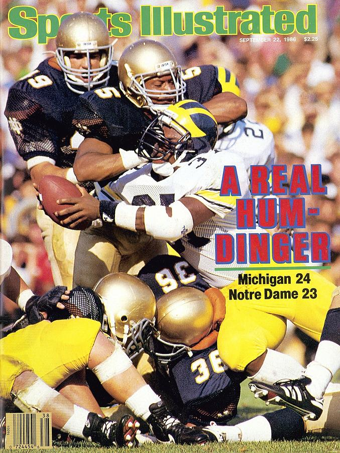 University Of Michigan Bob Perryman Sports Illustrated Cover Photograph by Sports Illustrated