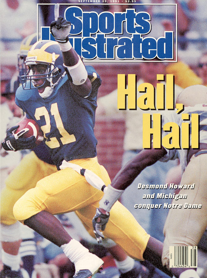 Magazine Cover Photograph - University Of Michigan Desmond Howard Sports Illustrated Cover by Sports Illustrated