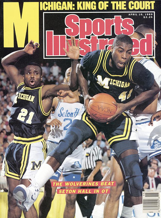 University Of Michigan Glen Rice, 1989 Ncaa National Sports Illustrated Cover Photograph by Sports Illustrated