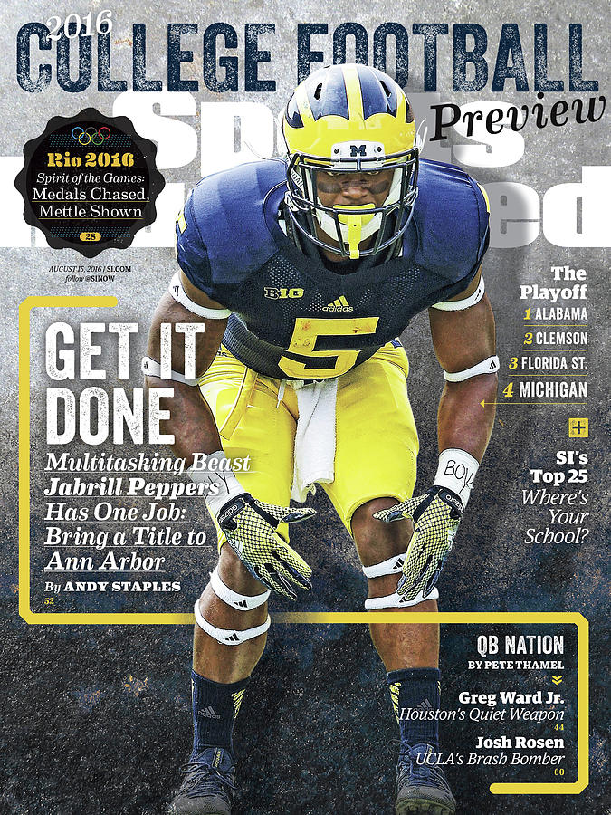 University Of Michigan Jabrill Peppers, 2016 College Sports Illustrated Cover Photograph by Sports Illustrated