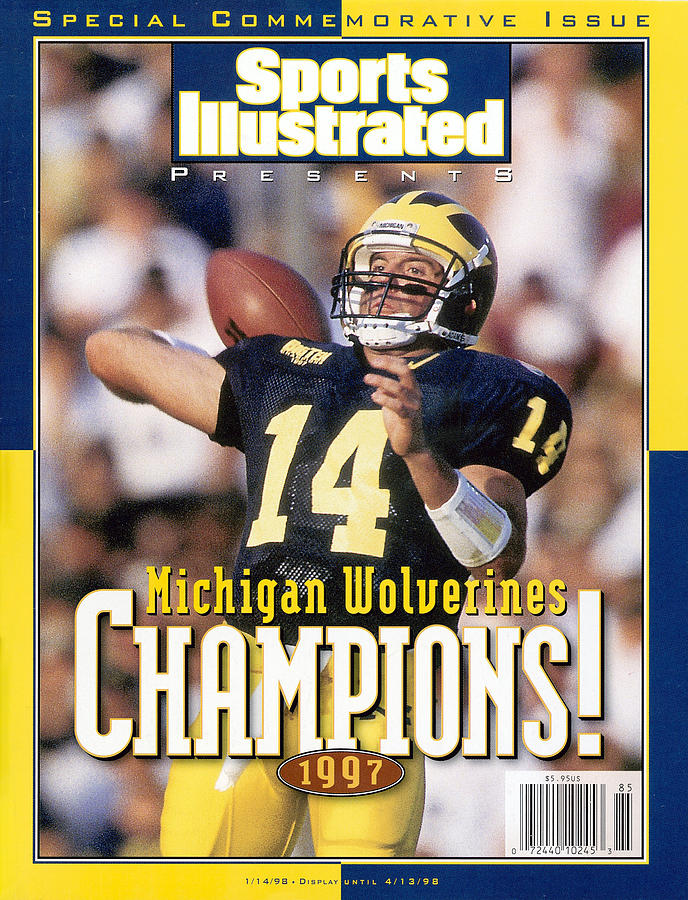 University Of Michigan Qb Brian Griese, 1997 Ncaa National Sports Illustrated Cover Photograph by Sports Illustrated