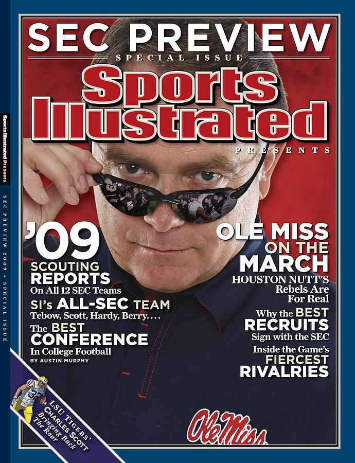 University Of Mississippi Head Coach Houston Nutt Sports Illustrated Cover Photograph by Sports Illustrated
