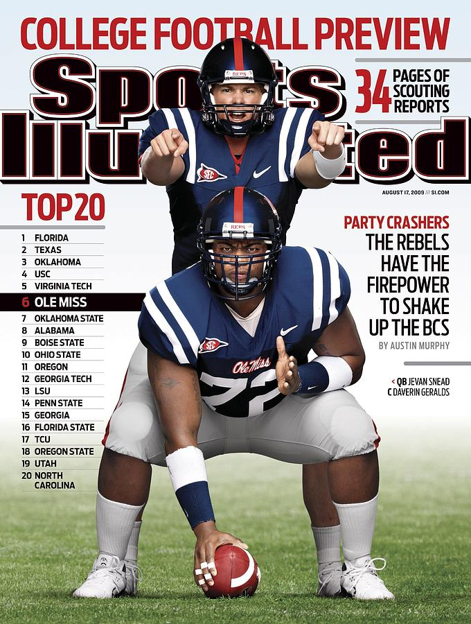University Of Mississippi Qb Jevan Snead And Daverin Sports Illustrated Cover Photograph by Sports Illustrated