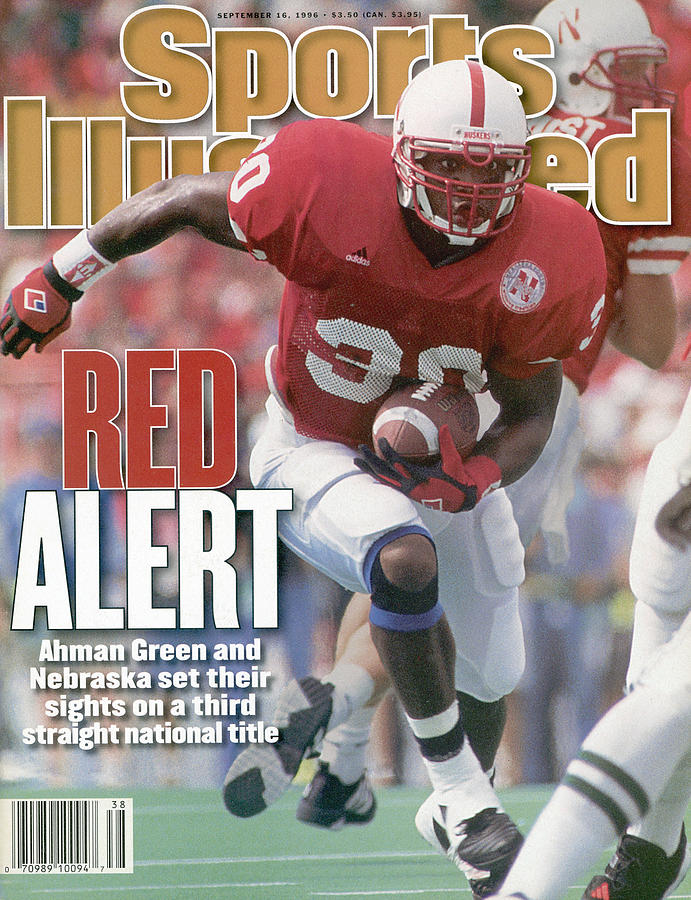 University Of Nebraska Ahman Green Sports Illustrated Cover Photograph by Sports Illustrated