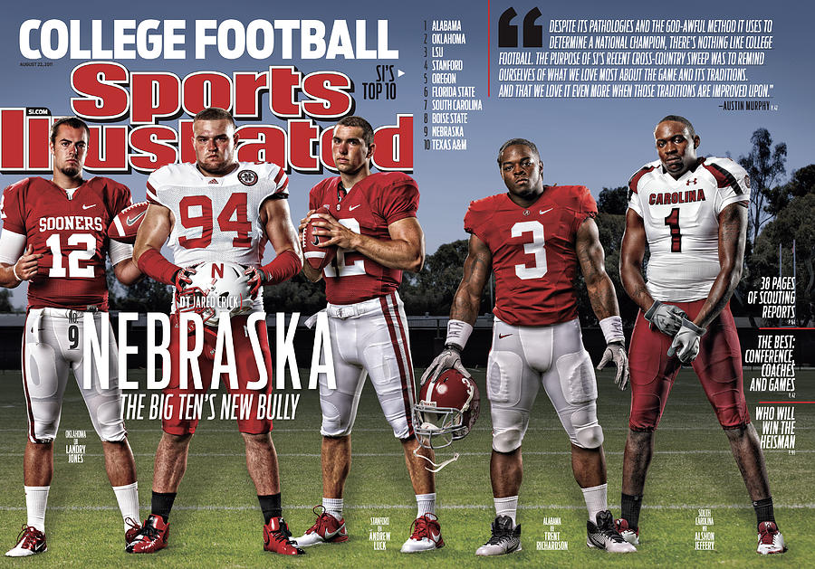 University Of Nebraska Jared Crick, 2011 College Football Sports Illustrated Cover Photograph by Sports Illustrated