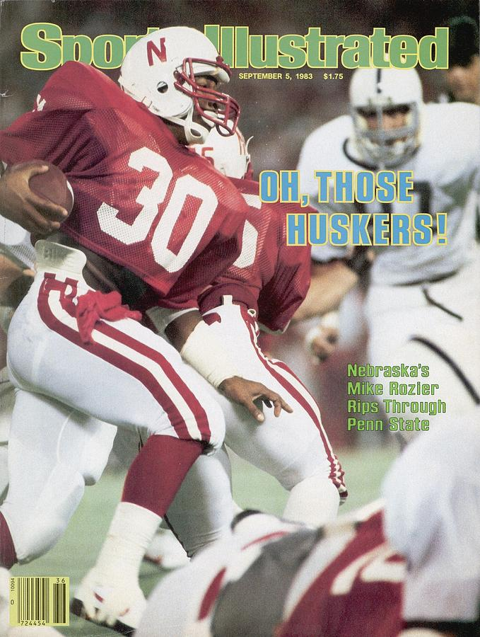 University Of Nebraska Mike Rozier, 1983 Kickoff Classic Sports Illustrated Cover Photograph by Sports Illustrated