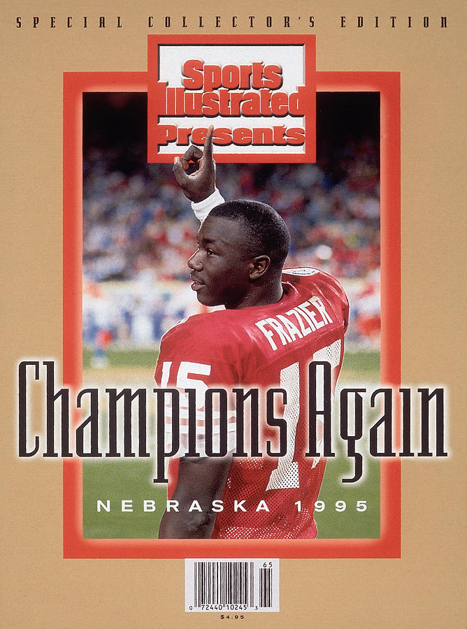 University Of Nebraska Qb Tommie Frazier, 1996 Ibm Fiesta Sports Illustrated Cover Photograph by Sports Illustrated