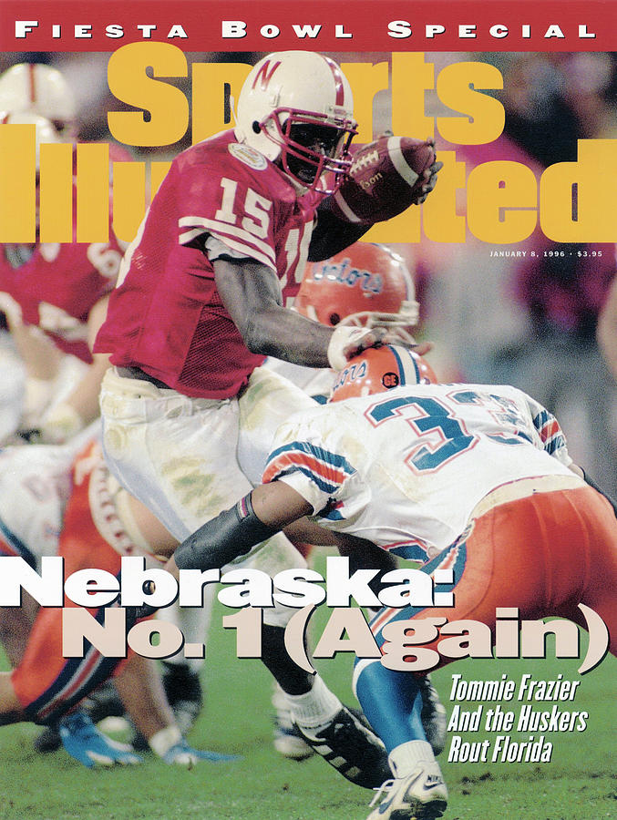 University Of Nebraska Qb Tommie Frazier, 1996 Tostitos Sports Illustrated Cover Photograph by Sports Illustrated