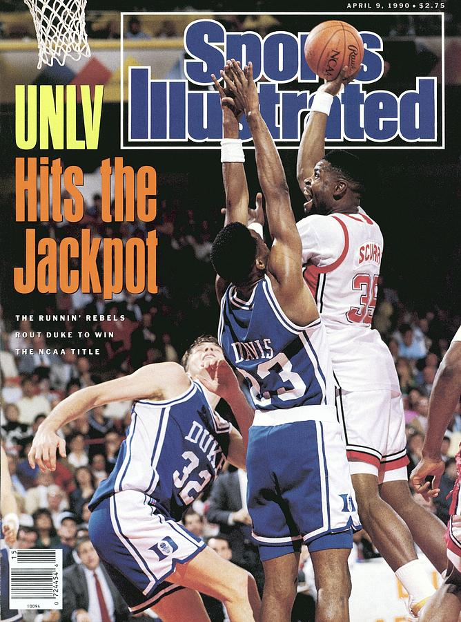 University Of Nevada Las Vegas Moses Scurry, 1990 Ncaa Sports Illustrated Cover Photograph by Sports Illustrated