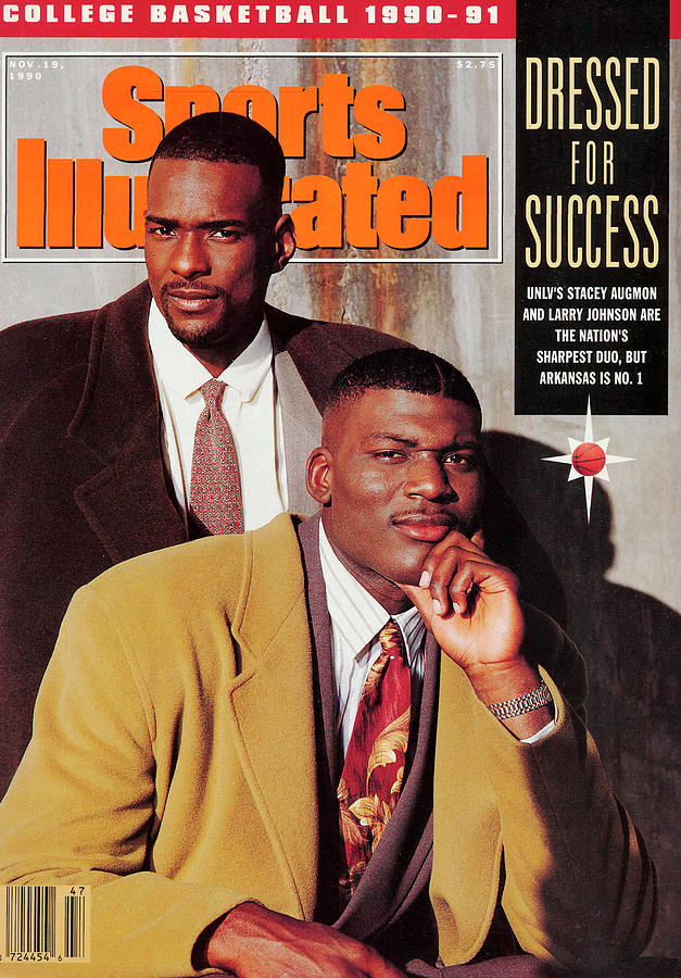University Of Nevada Las Vegas Stacey Augmon And Larry Sports Illustrated Cover Photograph by Sports Illustrated