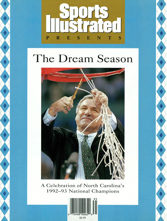 University Of North Carolina Coach Dean Smith, 1993 Ncaa Sports Illustrated Cover Photograph by Sports Illustrated