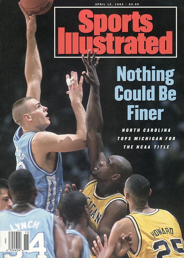 Louisiana Superdome Photograph - University Of North Carolina Eric Montross, 1993 Ncaa Sports Illustrated Cover by Sports Illustrated