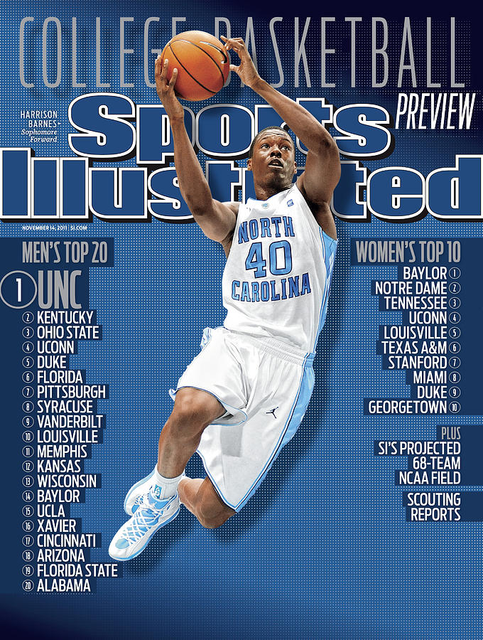 University Of North Carolina Harrison Barnes, 2011-12 Sports Illustrated Cover Photograph by Sports Illustrated