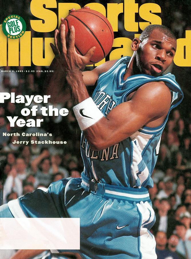 University Of North Carolina Jerry Stackhouse Sports Illustrated Cover Photograph by Sports Illustrated