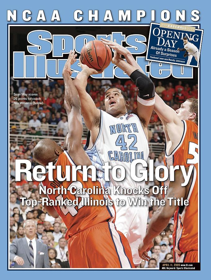 Jack Ingram Photograph - University Of North Carolina Sean May, 2005 Ncaa National Sports Illustrated Cover by Sports Illustrated