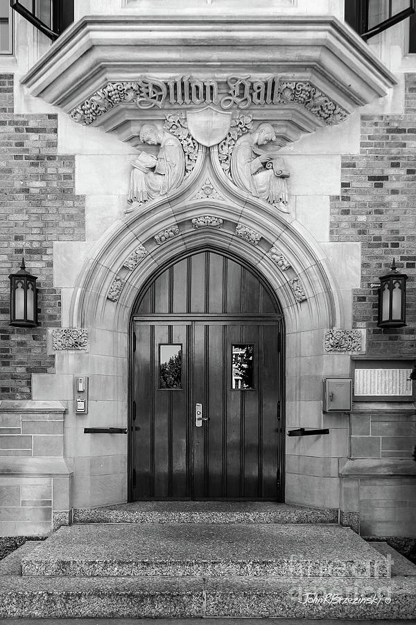 Notre Dame Photograph - University Of Notre Dame Dillon Hall by University Icons