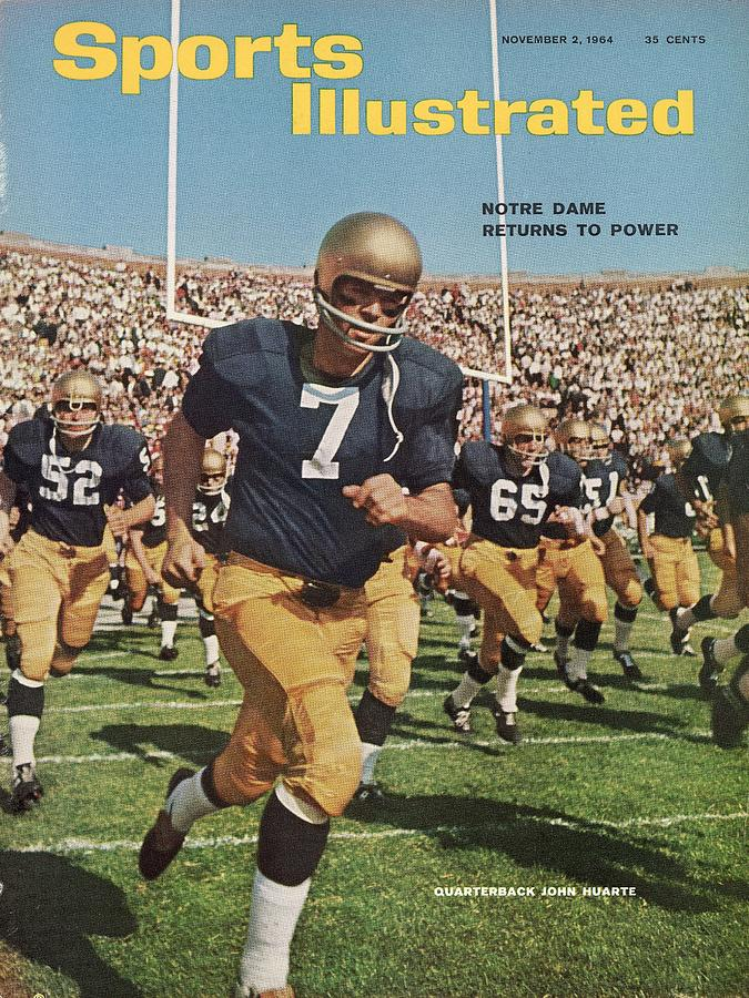 University Of Notre Dame Qb Johnny Huarte Sports Illustrated Cover Photograph by Sports Illustrated