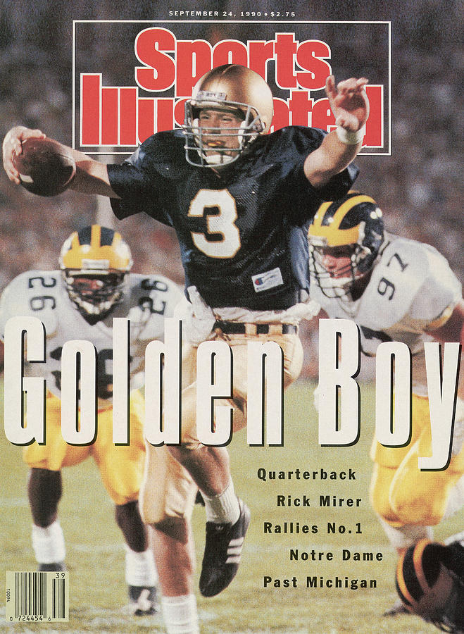 University Of Notre Dame Qb Rick Mirer Sports Illustrated Cover Photograph by Sports Illustrated