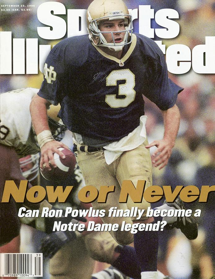 University Of Notre Dame Qb Ron Powlus Sports Illustrated Cover Photograph by Sports Illustrated