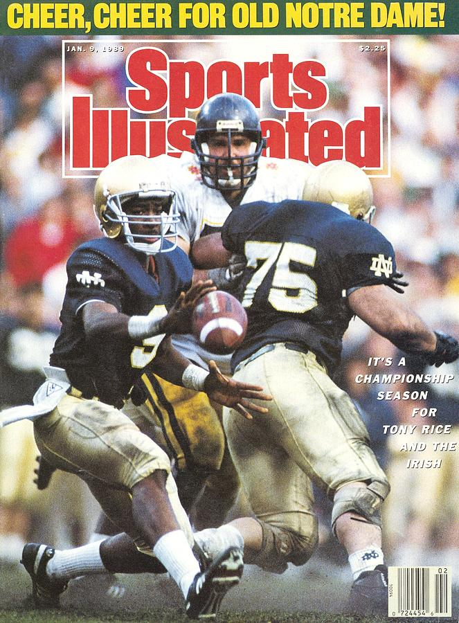 University Of Notre Dame Qb Tony Rice, 1989 Fiesta Bowl Sports Illustrated Cover Photograph by Sports Illustrated
