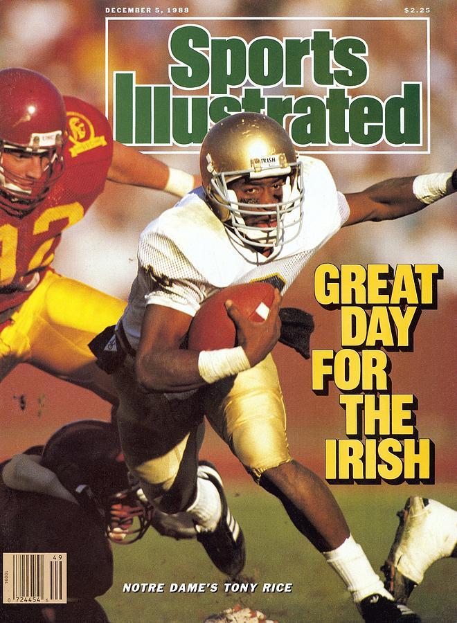 University Of Notre Dame Qb Tony Rice Sports Illustrated Cover Photograph by Sports Illustrated
