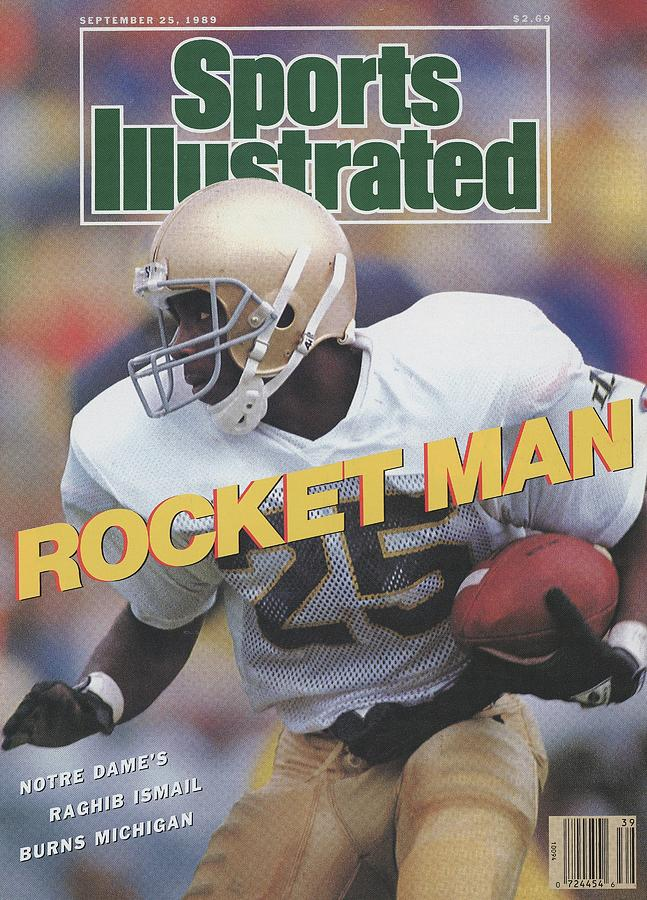 University Of Notre Dame Rocket Ismail Sports Illustrated Cover Photograph by Sports Illustrated