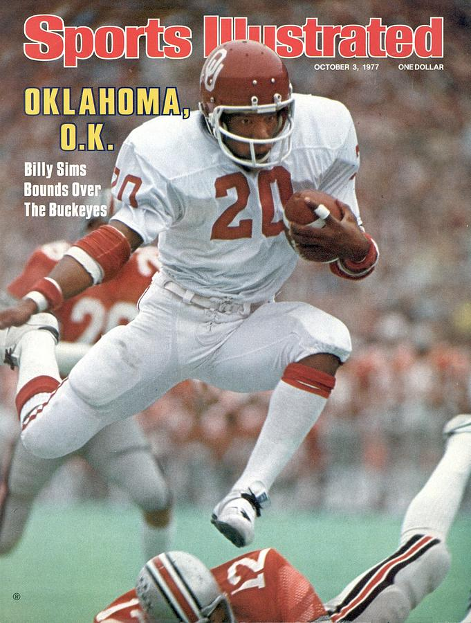 University Of Oklahoma Billy Sims Sports Illustrated Cover Photograph by Sports Illustrated