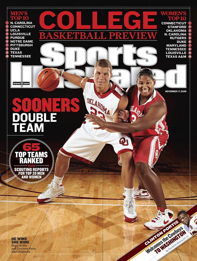 University Of Oklahoma Blake Griffin And Courtney Paris Sports Illustrated Cover Photograph by Sports Illustrated