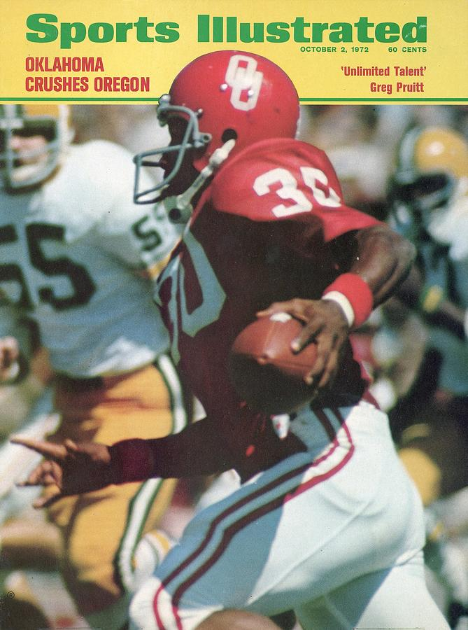 University Of Oklahoma Greg Pruitt Sports Illustrated Cover Photograph by Sports Illustrated