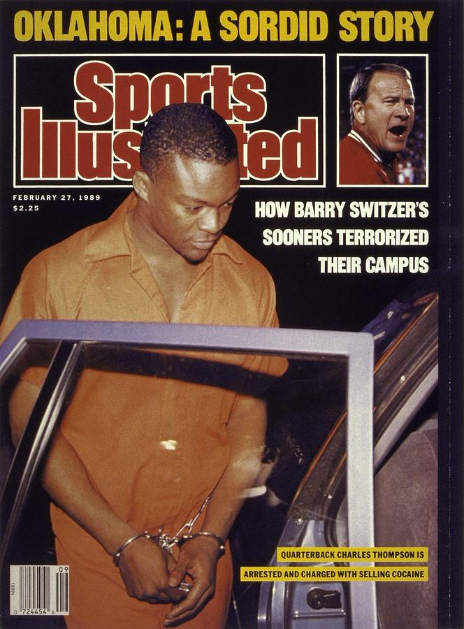 University Of Oklahoma Qb Charles Thompson Sports Illustrated Cover Photograph by Sports Illustrated
