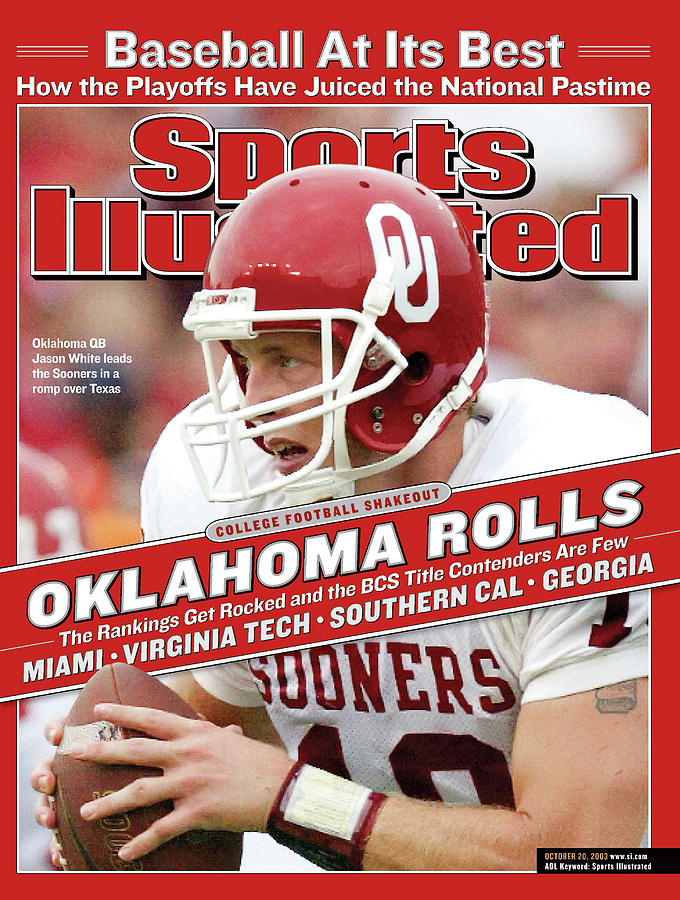 University Of Oklahoma Qb Jason White Sports Illustrated Cover Photograph by Sports Illustrated