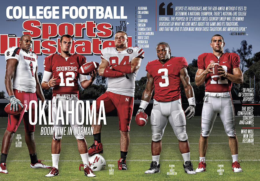 University Of Oklahoma Qb Landry Jones, 2011 College Sports Illustrated Cover Photograph by Sports Illustrated