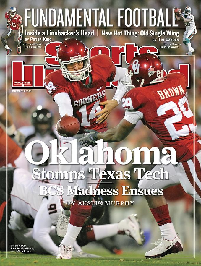 University Of Oklahoma Qb Sam Bradford Sports Illustrated Cover Photograph by Sports Illustrated
