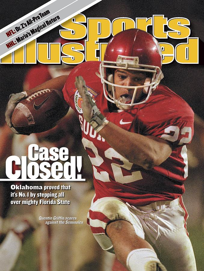 University Of Oklahoma Quentin Griffin, 2001 Orange Bowl Sports Illustrated Cover Photograph by Sports Illustrated
